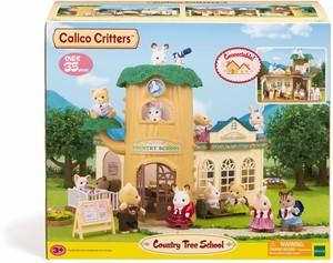 Calico Critters École dans un arbre en campagne