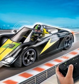 Playmobil Voiture de course noire télécommandée