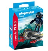 Playmobil  Figurine chevalier du ciel avec planeur