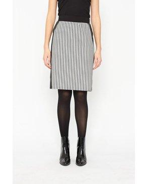 Melissa Nepton SKY - Pencil Skirt (Black Stripes)