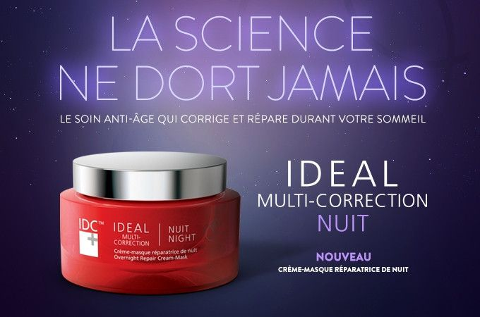 IDC Dermo IDEAL Multi-Correction – Overnight Repair Cream-Mask