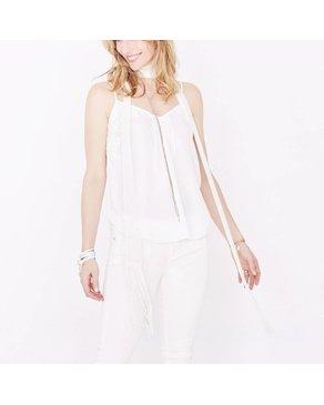 Luxetto Foulard Skinny - Blanc