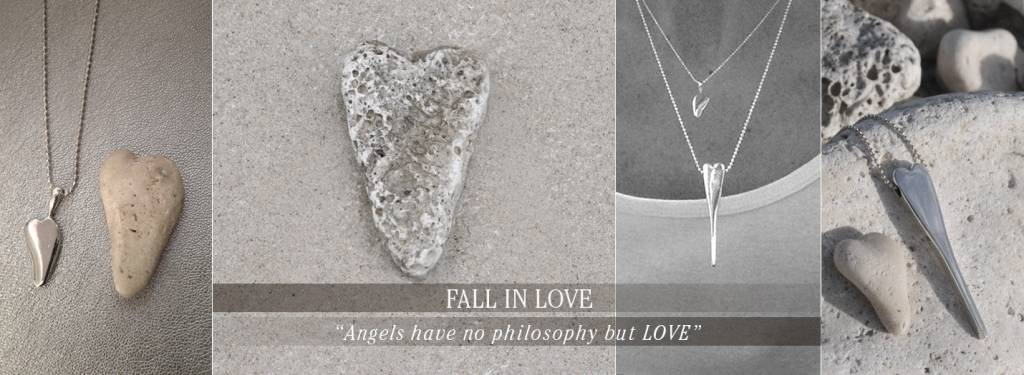 Ciao Angel Heart Fall In Love - Long Necklace