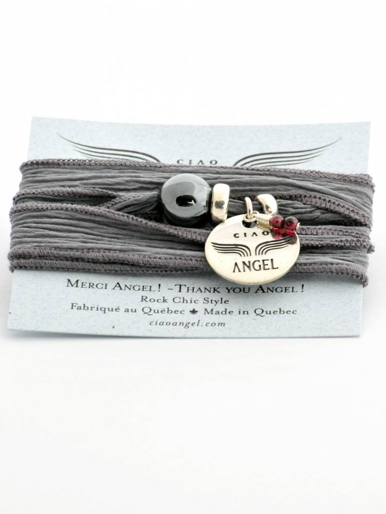 Ciao Angel Bracelet Merci Angel – Hématite