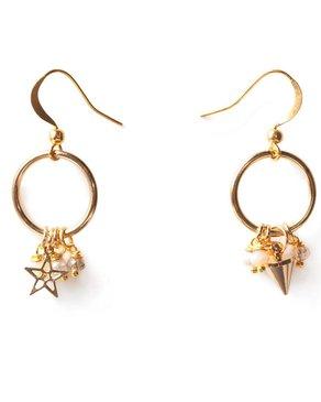 Luxetto FLO - Gold Earrings