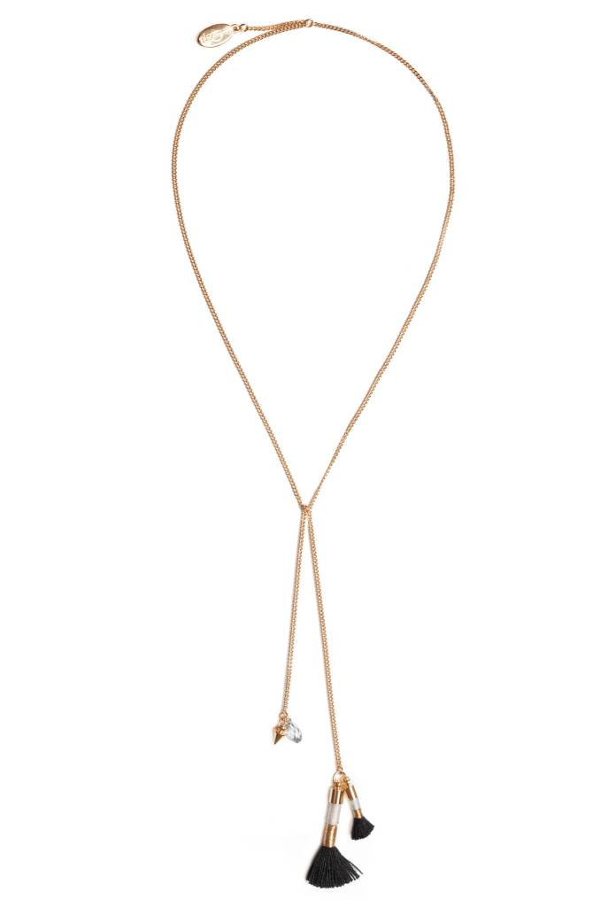 Luxetto LYCO - Collier Or & Noir