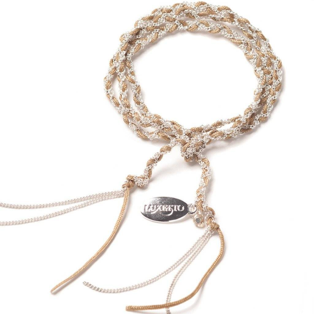 Luxetto MINI NATY - Wrap Beige Bracelet or Necklace