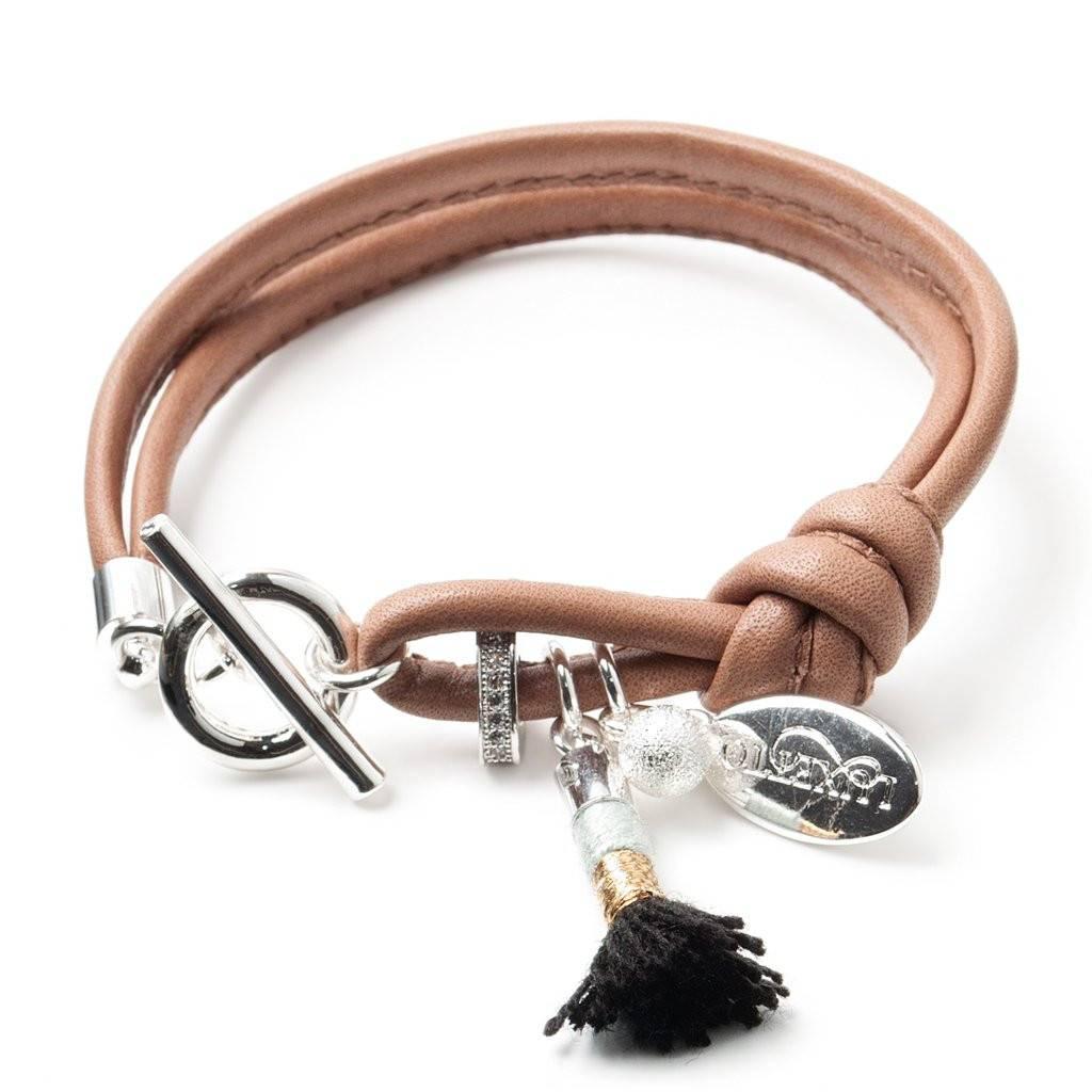 Luxetto IKKI - Brown Leather Bracelet