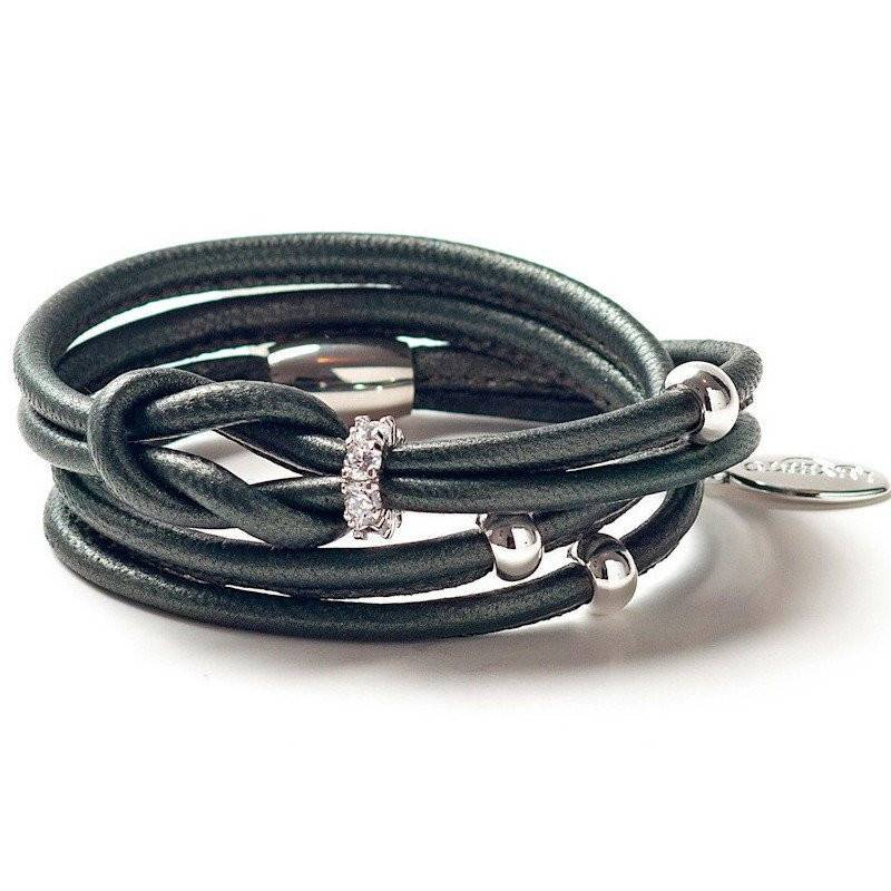 Luxetto ANDI - Kaki Leather Wrap Bracelet