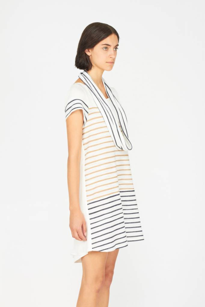 Melissa Nepton BAILEY - Dress (Beige Stripes)