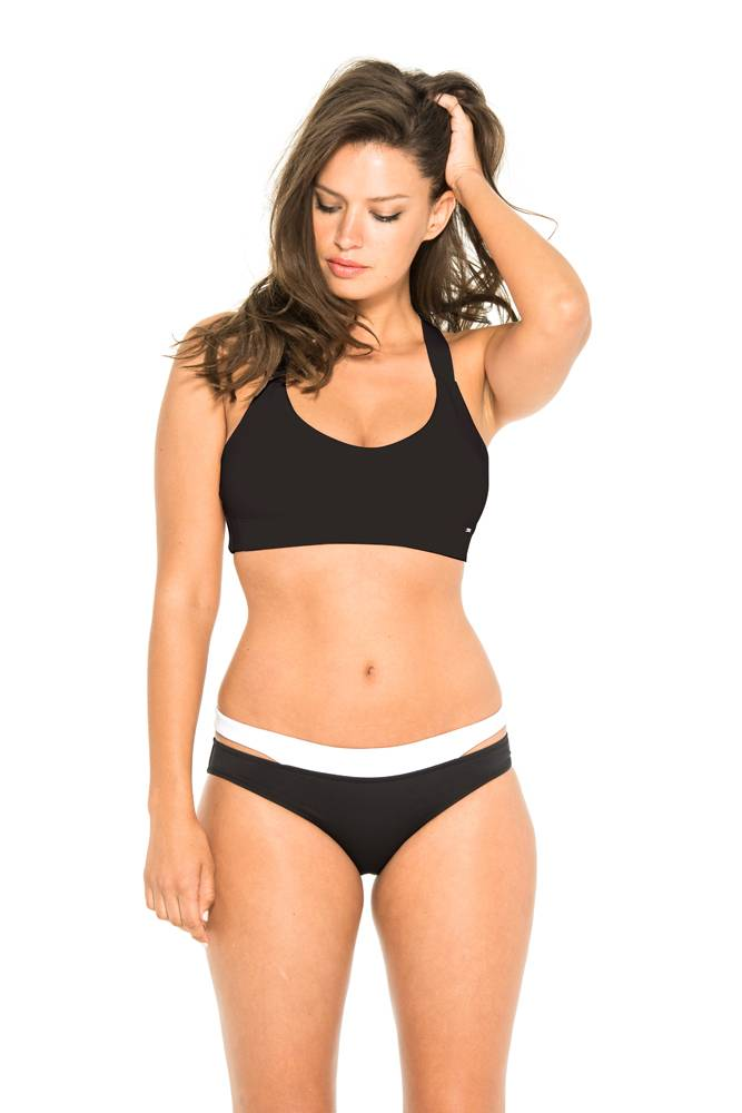 Everyday Sunday Black Sport-Chic Crop Top