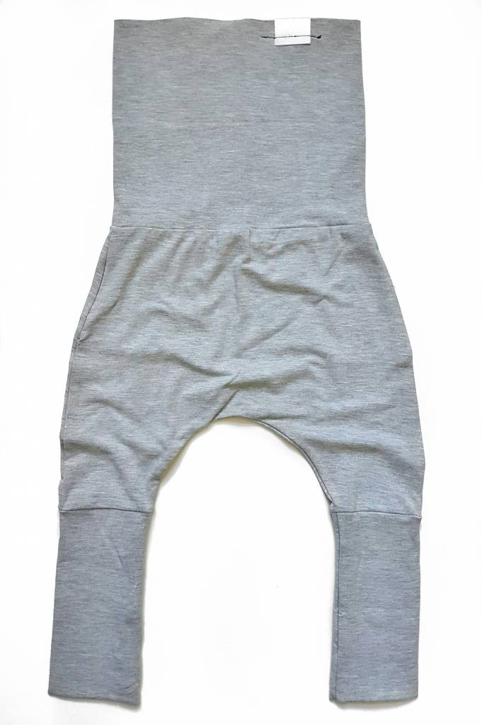 Kid's Stuff Grow-With-Me Harem Pants (Light Grey)