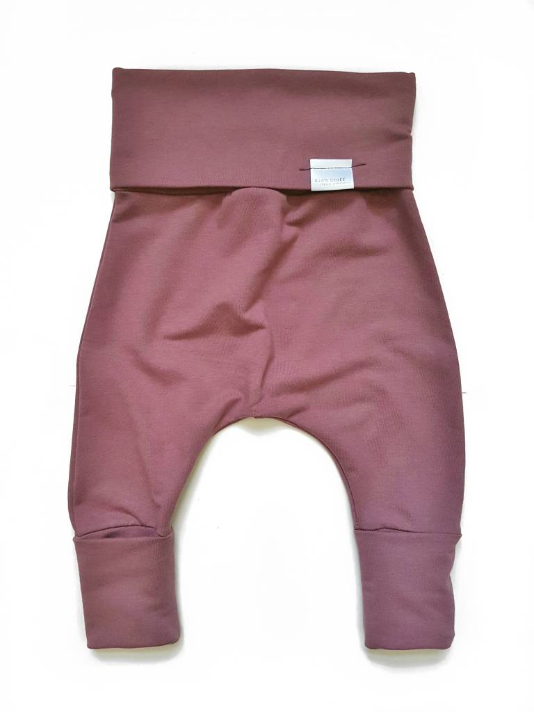 Kid's Stuff Grow-With-Me Harem Pants (Rose Brown)