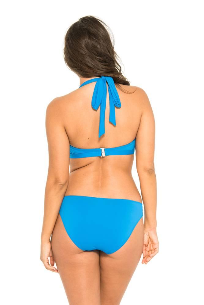 Everyday Sunday Blue Pleated Bikini Bottom