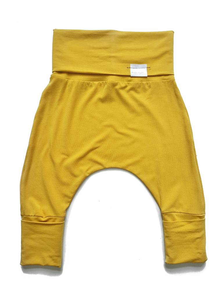 Kid's Stuff Grow-With-Me Harem Pants (Yellow)