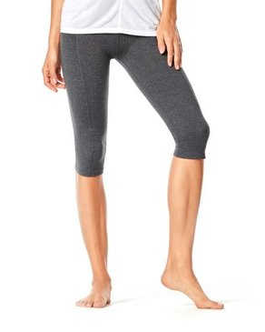 Karma Athletics YAMA CROP - Legging mi-long (Charbon)