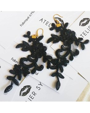 Atelier SYP GATSBY - Lace Earings (Black)