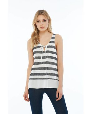 Melissa Nepton LUMEN - Cami (Off-White and Charcoal)