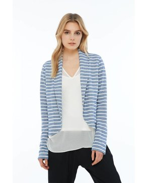 Melissa Nepton QUICK - Blazer (Blue and Off-White)