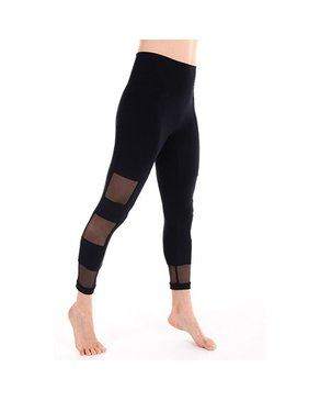 Squared Mesh 7/8 Leggings (Black)