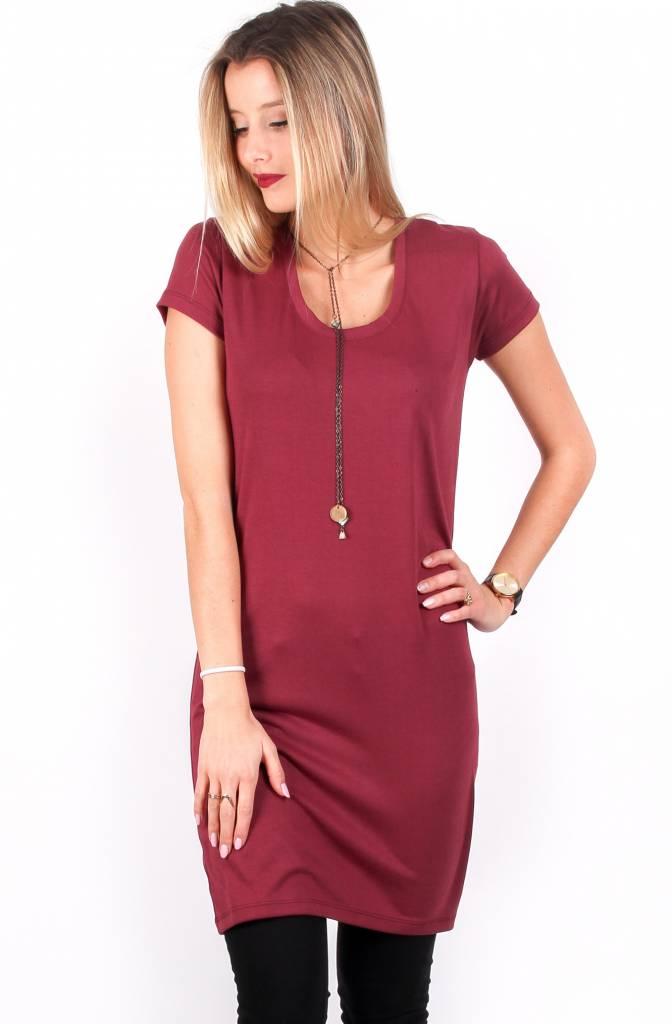 Louve Design T-Shirt Dress - Burgundy