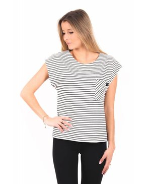 Louve Design Box Top - Black Striped