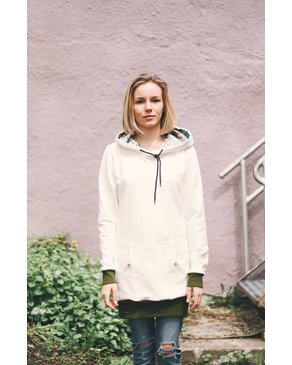 Louve Design Long Hoodie - Cream
