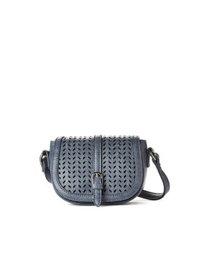 jeane & jax Perforated Mini Crossbody Bag (Twilight)