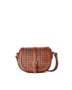 jeane & jax Perforated Mini Crossbody Bag (Hazelnut)