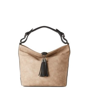 jeane & jax Tassel Hobo Bag (Latte)