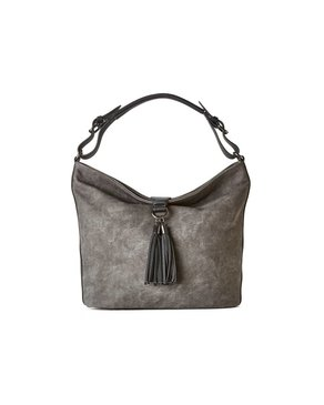 jeane & jax Tassel Hobo Bag (Charcoal)