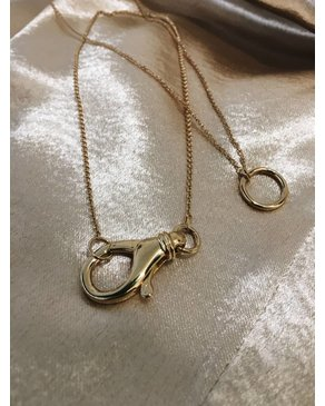 "Treasure Box The ""O"" Necklace (Gold)"