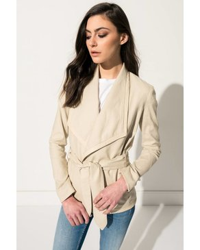 LAMARQUE FILIA Beige Lightweight Linen Jacket