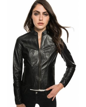LAMARQUE CHAPIN - Reversible Metallic-Bronze Leather Bomber