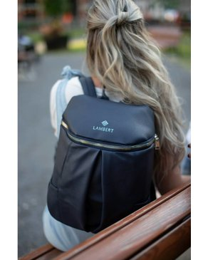 Design Lambert SARA - Our Small Navy Vegan Leather Backpack for Women - PRE-ORDER