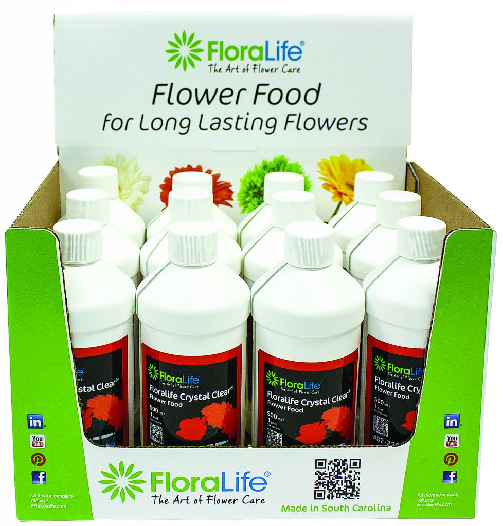 Floralife Crystal Clear® flower food