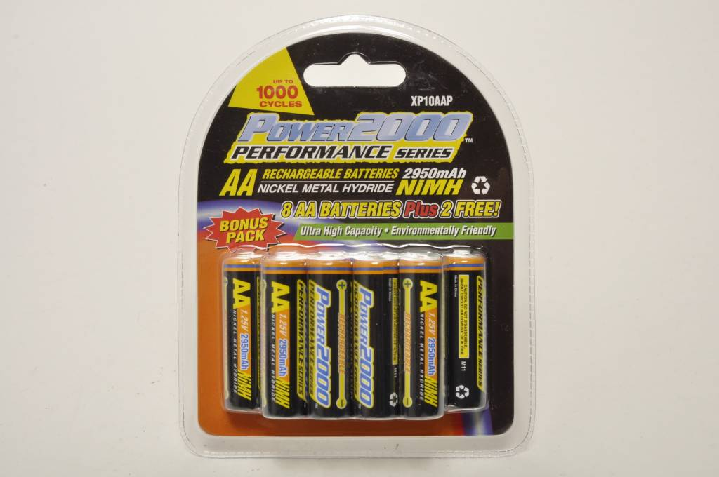 VidPro 10 Pack of AA 2950mAh Rechargable Batteries