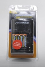 VidPro Rapid Charger w/ 4 AA 2900mAh Rechargable Batteries