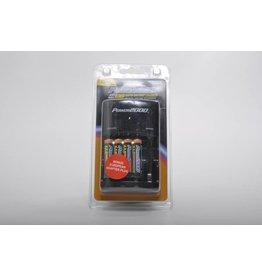 VidPro Rapid Charger w/ 4AA 2900mAh Rechargable Batteries