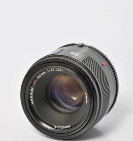 Minolta Minolta 50mm f/1.7 SN: 1399662