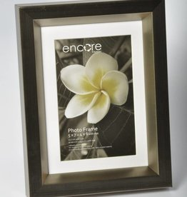 Larson Juhl Encore CROSS BRUSHED PEWTER BEVEL Frame for 5x7 or 4x6