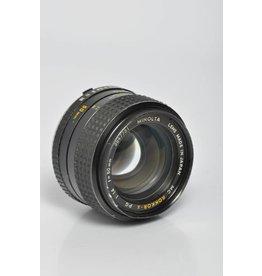 Minolta Minolta 50mm F/1.4 SN: 3847731