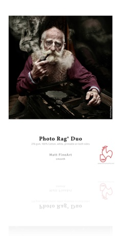"Hahnemuhle Hahnemuhle Photo Rag Duo, 100 % Rag, Bright White Matte Inkjet Paper, Coated 2 Sides, 276 g/mA, 8.5x11"", 25 Sheets"