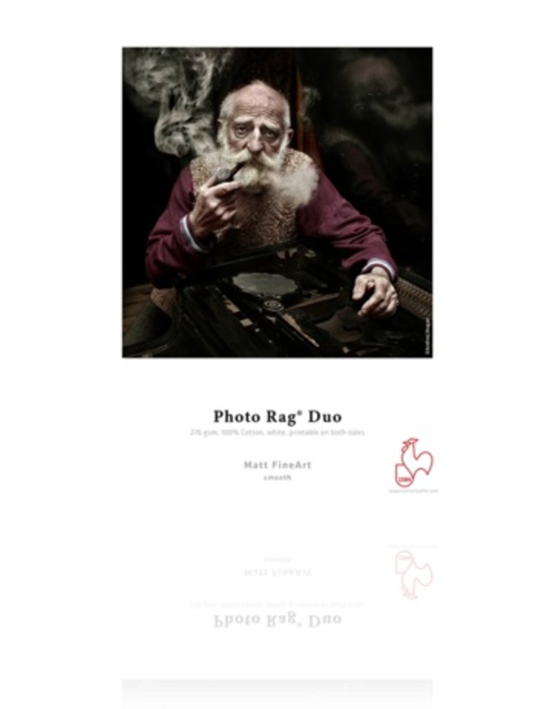 "Hahnemuhle Hahnemuhle Photo Rag Duo, 100 % Rag, Bright White Matte Inkjet Paper, Coated 2 Sides, 276 g/mA, 13x19"", 25 Sheets"