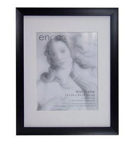Larson Juhl Encore Brushed Black Scoop 11x14 Frame 8x10 Mat