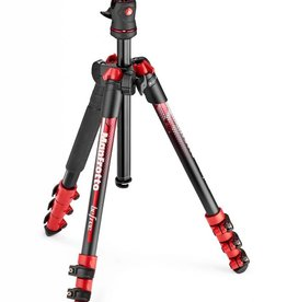 "Manfrotto Manfrotto BeFree Color 4-Section Aluminum Traveler Tripod with Ball Head, 9lbs Capacity, 57"" Max Height, Red"