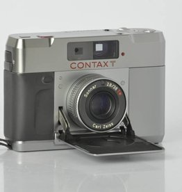 Contax Contax T Manual Focus 35mm Camera and flash