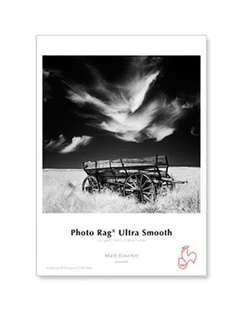 "Hahnemuhle Hahnemuhle Photo Rag, 100 % Rag, Ultra Smooth, White Matte Inkjet Paper, 305 gsm, 8.5x11"", 25 Sheets"