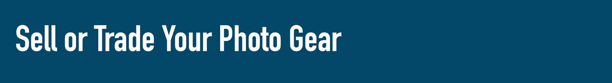 sell your camera gear