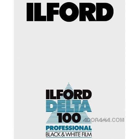 """Ilford Ilford Delta 100 ASA 4x5"""" Black and White"""